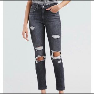 LEVI'S 721 High Rise Skinny Distressed Jeans sz 30